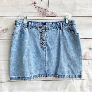 Vintage Express Blues Denim Skirt